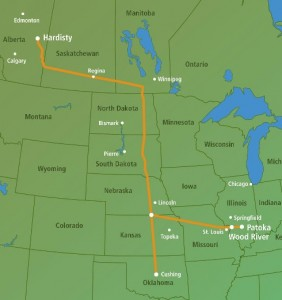 keystone-pipeline-route-map