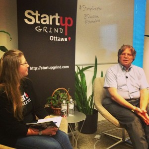 David Rose speaks at StartupGrind Ottawa
