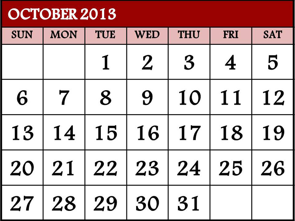 October Calendar 2013 : October roundup what does it take to get technology